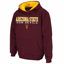 Stadium Athletic Arizona State Sun Devils Youth Maroon Stack II Hoodie