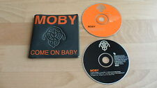 MOBY - COME ON BABY (RARE LIMITED EDITION  2 X CD SINGLE IN RUBBER SLEEVE)