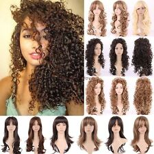 Graceful Long Curly Wavy Full Head Wigs Cosplay Party Daily Fancy Dress Lady Wig