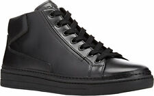 PRADA New Men's Black Leather Mid-Top Sneakers Trainer Size US11 $780