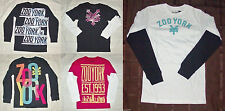 Zoo York Boys Long Sleeve T-Shirts 5 Choices Sizes Sm, Med, Lg and XLg NWT