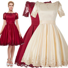 50'S Vintage Style Evening Mini Dress Swing Prom Party Wedding Cocktail Ballgown