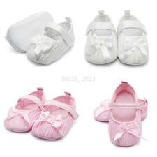 Fashion Toddler Baby Girl Princess Bowknot Shoes Soft Sole Newborn to 18M