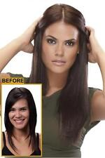 """16"""" Straight easiXtend FREE 3 PC KIT Heat Defiant HD Clip in Extensions 5pcs"""
