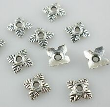 240/2000pcs Tibetan silver 4 leaves Spacer Bead Caps 6mm