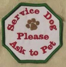 Custom Ask to Pet Dog Patch Crest Service Dog Therapy Dog In Training Guide Dog