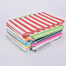25/50pcs Striped Paper Lolly Candy Buffet Bags Birthday Wedding Party Favour