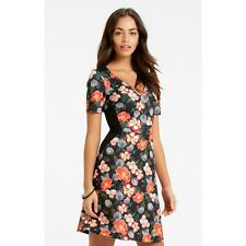 New Ladies Oasis Rose Floral Dress Sizes XS-L Summer Party Bodycon