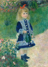 "Auguste Renoir : ""A Girl with a Watering Can"" (1876) — Giclee Fine Art Print"