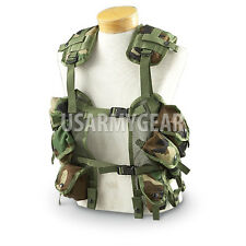 US MADE Military USGI MOLLE Woodland Camouflage Tactical Load Bearing Vest LBV