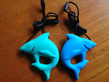 "Silicone Shark Teether Teething Baby & Mum Jewellery Necklace Pendant ""Jaws"""