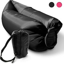 Inflatable Camping Lounger Sleeping Chair Bed Sofa Hangout Laybag Beach Outdoor