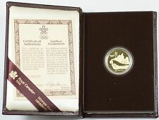 1987 Canada 1988 Calgary Olympic $100 Dollar 1/4 Oz Gold Proof Coin as Issued WW