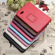 PU Leather Cover Case W/Stand For Samsung Galaxy Tab 7.0 Plus P6200 P6210 US