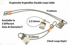 Kryptonite KryptoFlex Double Clinch Loop Cables Works with Padlock u-lock disc