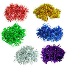 10X(2m (6.5 Ft) Christmas Tinsel Tree Decorations Garland HY