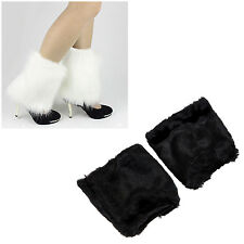 10X(Fluffies Fluffy Furry Leg Warmers Boots Covers Rave Furries HY