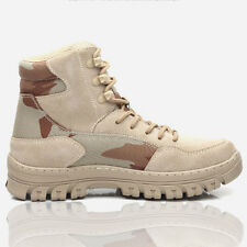 Mens Safety Work Boots Lace Up Tactical Leather Military Army Hiking Ankle Boots