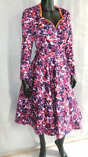 Pinup Couture Heidi Swing dress  vintage 50's style purple floral M