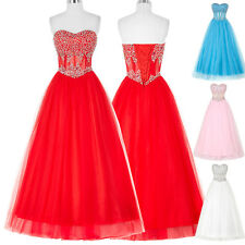 Clearance Tulle Evening Formal Party Ball Prom Bridesmaid Dress Wedding Gown