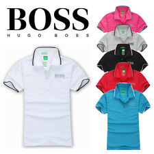 Hugo Boss Hot Men Brand New Green Label Casual Polo T- Shirt Short Sleeved L,M
