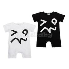 Summer Baby Girl Boy Infant Bodysuit Jumpsuit Short Sleeve Romper Clothes Outfit