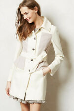 New NWT Anthropologie Colette Trench Wool Coat Peplum Size 4 & 12 Free Shipping!