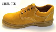 D4S New Men's Leather Low Top Steel Toe Work Boots Construction Boots Size 6-10