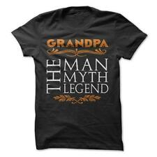 Grandpa The Man The Myth The Legend-Funny T-Shirt 100% Cotton Grandfather Family