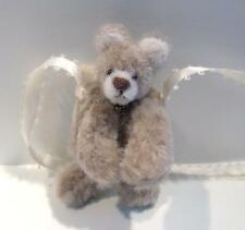 "Hand made Miniature Faux Fur tiny Teddy Bear Muff by artist B Hogan- 2 1/4"" OOAK"