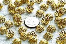 10mm Plated Brass Stamping Filigree Bead Cap bc01(12pcs)