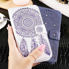 New Luxury Leather Pattern Flip Card Wallet Case Cover For Various Mobile Phones