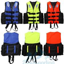 S-3XL Universal Adult Life Jacket Buoyancy Aid Swimming Boating Ski Vest+Whistle