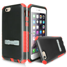 For Apple iPhone 6 4.7 Shockproof Tri Shield Rugged Hybrid Case Stand w/Screen