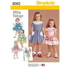 Simplicity Sewing pattern from the Vintage 1950's Dress for Toddler and Child