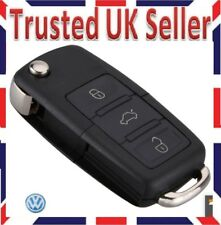 VW 3 BUTTON VOLKSWAGEN GOLF CADDY JETTA BEETLE POLO BLANK REMOTE FLIP KEY FOB