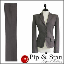 NEXT UK12/14 US8/10 BROWN BUSINESS TROUSER SUIT WOMENS LADIES SIZE PIP & STAN