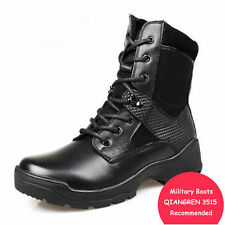 Mens Work Safety Boots Steel Toe Leather Tactical Military Army Hiking Boots