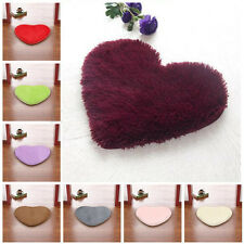 NEW Fluffy Anti-Skid Shaggy Love Heart Soft Foam Bedroom Floor Mat Rug Carpet