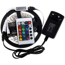 5M 3528 RGB LED Strip 300Leds SMD Tape Light + 24Key IR Remote  + 12V Power