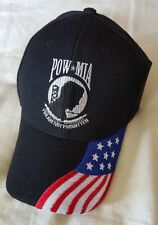 POW*MIA You Are Not Forgotten Baseball Cap Hat With American Flag On Bill