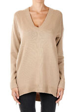 MICHAEL KORS New Woman BEIGE Cashmere long sleeve Sweater Jumper NWT