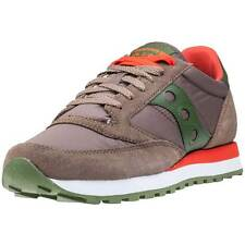 Saucony Jazz Original Mens Trainers Brown Green New Shoes