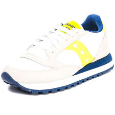 Saucony Jazz Original Womens Trainers White Yellow New Shoes