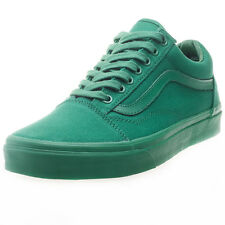 Vans Old Skool Monochrome Unisex Trainers Green New Shoes