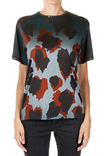 GUCCI New Woman Multicolor Cotton tee T-shirt Embroidery Made in Italy NWT