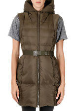 PRADA Woman Sleeveless Down Coat with Belt Made in Italy New with Tags