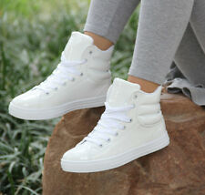 NEW fashion womens round toe lace up ankle sneakers sports Boots flat shoes