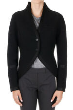GIVENCHY Nw Women Black Wool Asymmetric Blazer Single Breasted Jacket made Italy