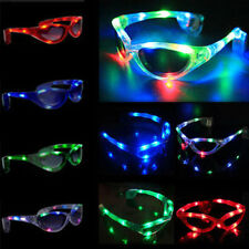 LED Light Up Sunglasses Shades Flashing Blink Glow Glasses Party Rave X1PC MHDS